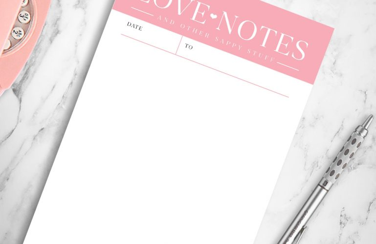 Love Letters Notepad